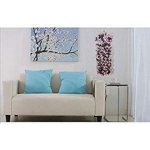 Mikilon Artificial Wisteria Long Hanging Bush Flowers - 5 Stems for Home, Wedding, Restaurant and Office Decoration Arrangement, Lavender (Hot Pink) 3