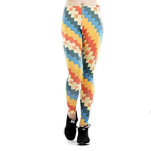GYXYYF Gedruckte Leggings Digitaldruck Leggings Damen Sport Engen Yoga Hosen
