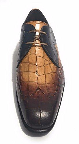 Harris Zapatos de Cordones de Piel Para Hombre Cocco/Crosta Di Pane/Blu 39 Size: 39 LXIgNbyZr