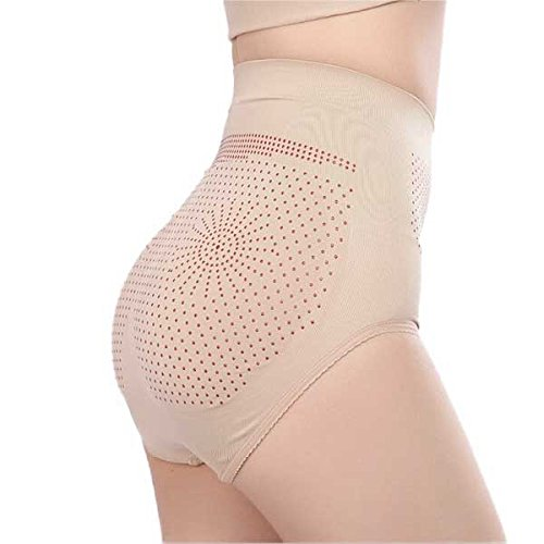 PU LifeStyle 10 Piece Self Breathing Fabric Magnetic Slimming Panties, Beige, 1.3 Pound