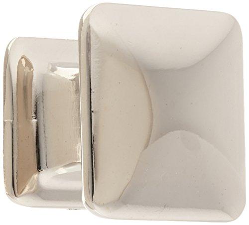 Atlas Homewares 322-PN 1.25-Inch Alcott Square Knob from the Alcott Collection, Polished Nickel