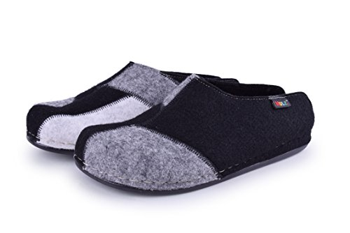 White Outdoor in Black Gray Shoes Wool House Made Mulz Slippers Indoor Unisex and Europe 7OZYznqnTw