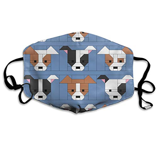 SyjTZmopre Dog Gone Cute Tutorial Blocks Mouth Mask Unisex Printed Fashion Face Anti-dust Masks