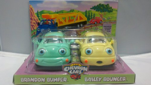 Collectible CHEVRON Cars Babies Brandon Bumper&Bailey Bouncer - Chevron Toy Cars