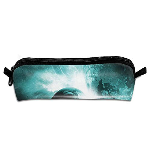 (Pencil Case Outer Space Wonders Unique School Pouch Zippered Makeup Bags Case For Girls)