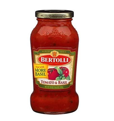 - Bertolli Tomato & Basil Pasta Sauce 24 oz (4 Pack 24oz)