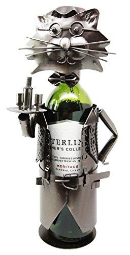Felix The Cat Hospitality Waiter Hand Made Metal Wine Bottle Holder Caddy Figurine