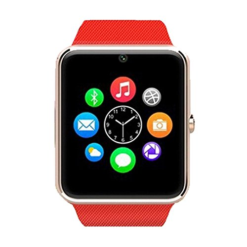 Alike C08 Men and Women Fashion Bluetooth Smart Watches Can Phone and Camera Sports Watch(red)