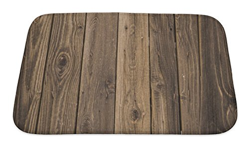 Gear New Wood Bath Mat Rug, Microfiber Memory Foam with no Skid Back, 24''x17'' GN24924 by Gear New (Image #4)