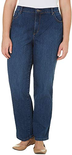 Gloria Vanderbilt Women's Plus Size Amanda Classic Tapered Jean, Scottsdale Wash, 20W (High Waisted Wide Leg Jeans Plus Size)