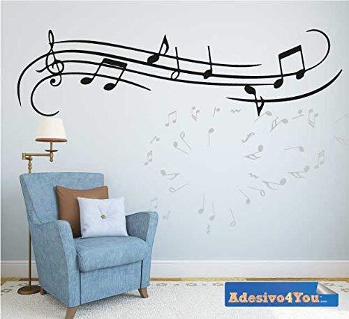 Adesivo Murale MUSICA Design Wall sticker. Adesivo4You