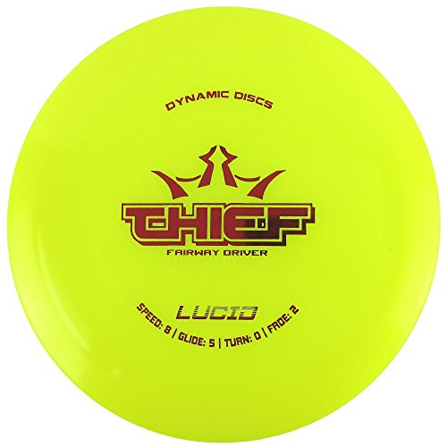 Dynamic Discs Lucid Thief Fairway Driver Golf Disc [Colors may vary] - 170-172g
