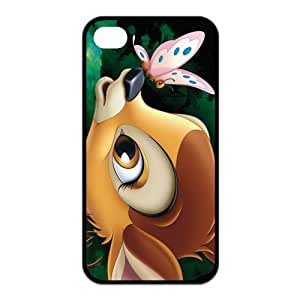Mystic Zone Customized Bambi iPhone 4 Case for iPhone 4/4S Cover lovely Cartoon Fits Case KEK0434