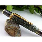 Shredded US Money, Ballpoint Writing Pen, Medium Point, Gun Metal with Gold Accents