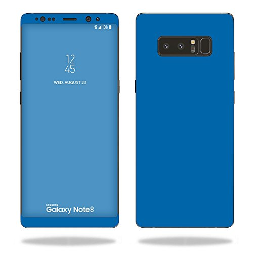 MightySkins Skin Compatible with Samsung Galaxy Note 8 - Solid Blue   Protective, Durable, and Unique Vinyl Decal wrap Cover   Easy to Apply, Remove, and Change Styles   Made in The USA