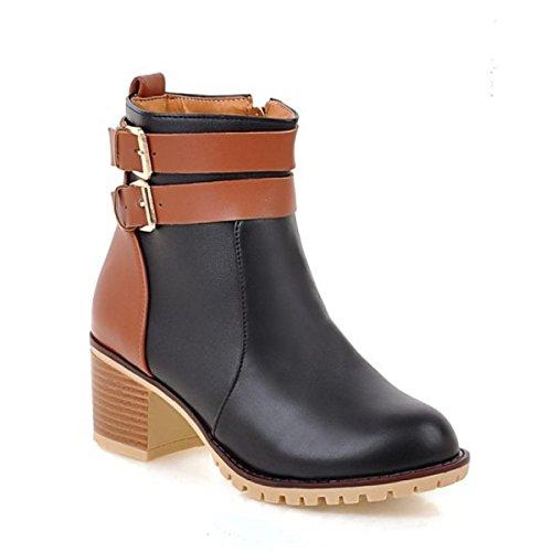 Cremallera Botas Zapatos Las Pu Funky Acentuada Rubber Martin De 8AqXaq6