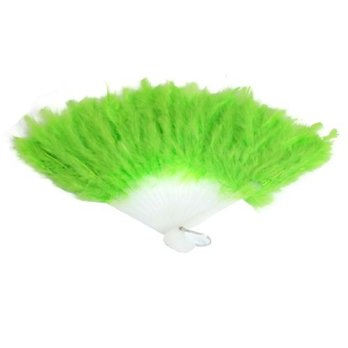 eDealMax Cadre en Plastique Pliable ventilateur de Main Pour fte de Mariage Blanc vert