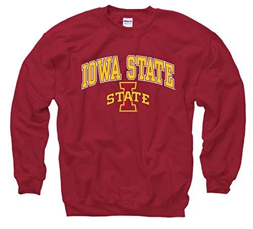 Iowa State Cyclones Arch & Logo Gameday Crewneck Sweatshirt - Cardinal