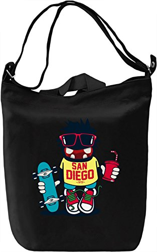 San diego monster Borsa Giornaliera Canvas Canvas Day Bag| 100% Premium Cotton Canvas| DTG Printing|