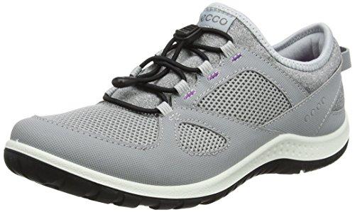 ECCO Womens Aspina Toggle Trail Runner Silver Grey/Silver Grey