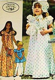 McCall s patrón de costura 4548 Laura Ashley Niñas Vestido, gorro y bolsa,