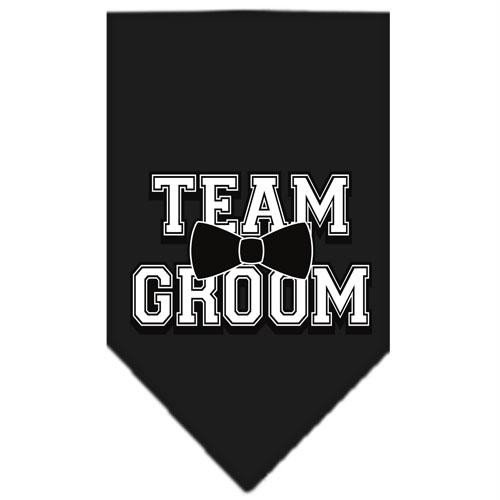 (Mirage Pet Products Team Groom Screen Print Bandana, Large, Black)