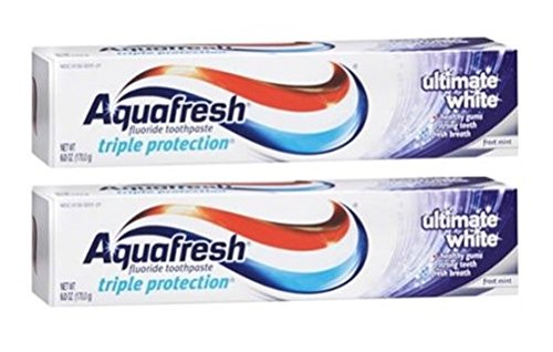 Aquafresh Ultimate White Fluoride Toothpaste-6 oz, 2 (Aquafresh White Toothpaste)