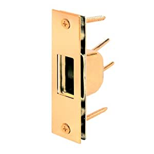 Prime-Line Products U 9539 Armored Security Strike, 1-1/4 in. x 4-7/8 in., Steel, Brass Plated