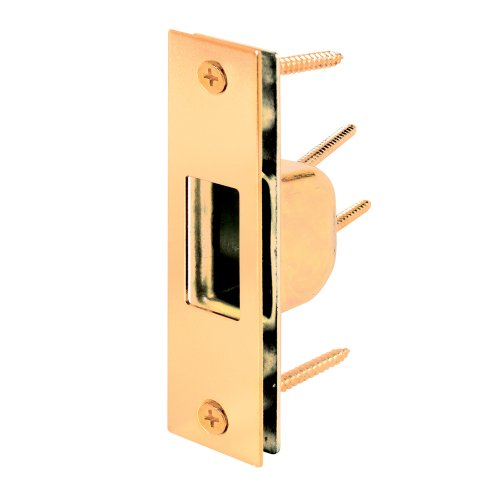 Prime-Line Products Prime-Line U 9539 Armored Security Strike, 1-1/4 in. x 4-7/8 in, Steel, Brass Plated,