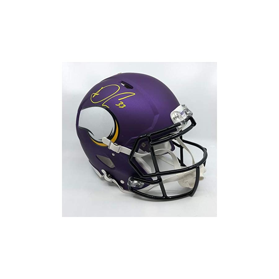 Dalvin Cook Signed Minnesota Vikings Full Size Authentic Speed Helmet
