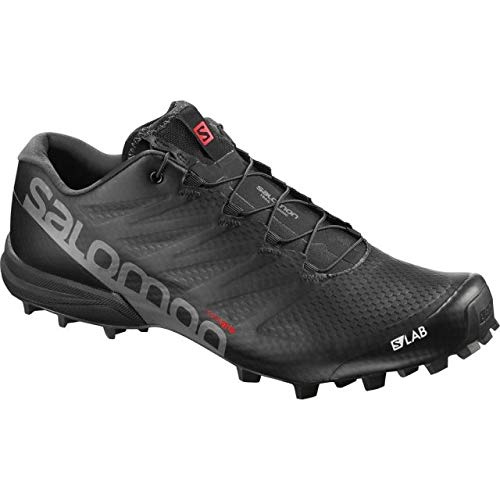 Salomon Men's S/Lab Speed 2 Running Shoes, Black, 8.5 M