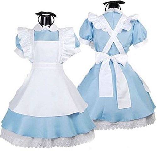 [Deetto Alice in Wonderland Cosplay Anime Maid Costumes Lolita Women Girls Dress] (Alice In Wonderland Costumes For Adults)