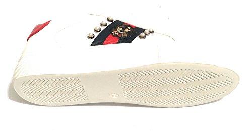 Bianco Gold Rosso Donna blu D19gg08 Sneaker Ecopelle amp; qZ7UZaFwH