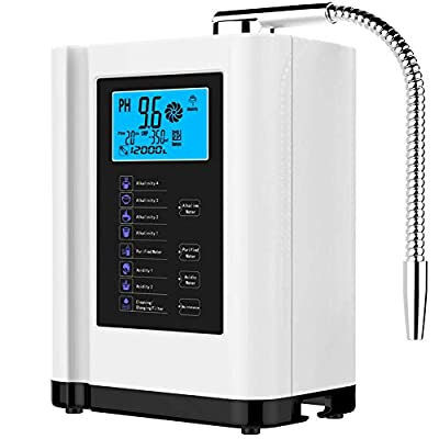 Barbella Water Ionizer & Purifier Machine PH 3.5-10.5 Alkaline Acid / 7 Water Settings Up to / 500mV ORP/ 6000 Liters Per Filter/Auto-Cleaning-Better Water Better Life[US Warehouse Delivery]