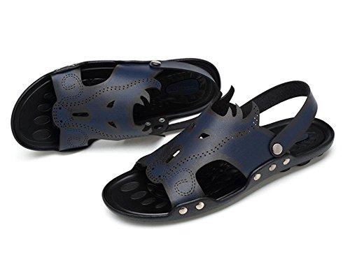 2017 zapatos de los hombres de las sandalias de los deslizadores de los deslizadores de la fibra de las sandalias de los nuevos hombres del verano zapatos de los hombres de los deportes de doble uso 4
