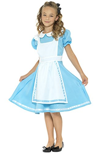 (Smiffy's Girls Dreamland Alice Costume, Blue,)