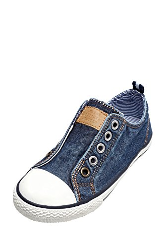 next Niñas Zapatillas Sin Cordones Corte Estándar Zapatos Calzado Denim