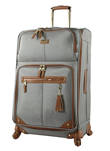 Steve Madden Luggage Large 28'' Expandable Softside Suitcase With Spinner Wheels (28in, Harlo Gray) by Steve Madden Luggage