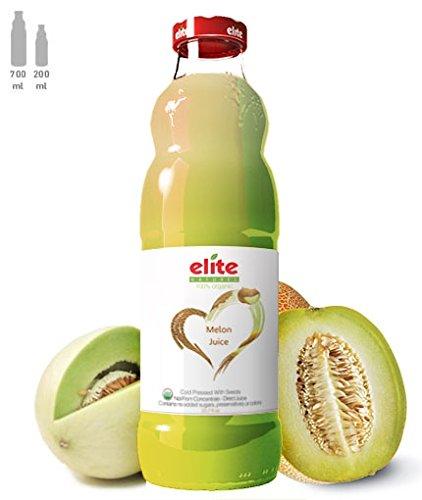 Elite Naturel: 100% Organic Melon Juice 23.7 Oz (6 (Melon Organic Seed)