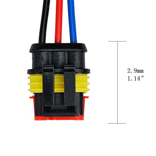 MUYI 5 Kit 3 Pin Way 18 AWG Waterproof Connector Wire 1.5mm Series Terminal Connector Plug Black by MUYI (Image #5)