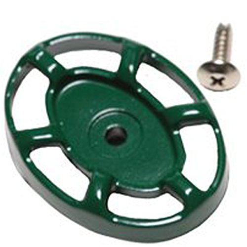 Arrowhead PK1295 Green Rubberized Coated Oval Handle and Self-Tapping Stainless Steel Screw