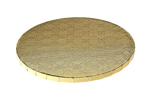 12'' Gold Round Drum, 1/2'', 6 Count by Enjay