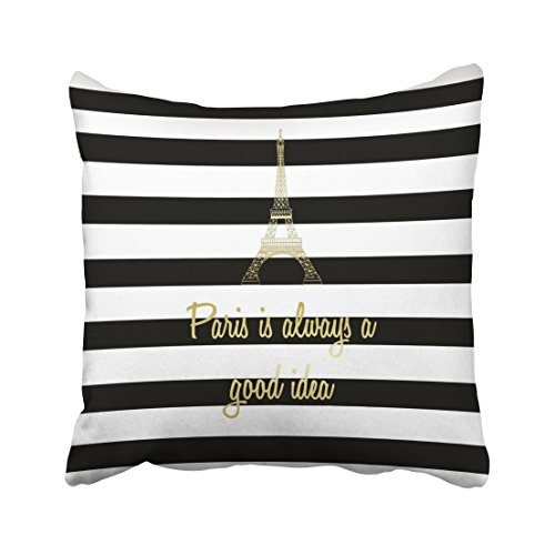 Good Ideas For Halloween (Emvency Throw Pillow Covers Paris Is Always A Good Idea Decor Pillowcases Polyester 20 X 20 Inch Square With Hidden Zipper Home Sofa Cushion Decorative Pillowcase)