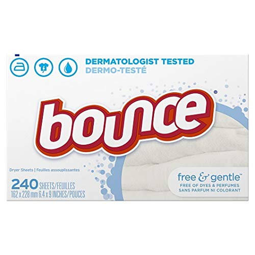 Protection! Bounce Fabric Softener Dryer Sheets Free & Gentle Unscented240.0 ea(4pk)
