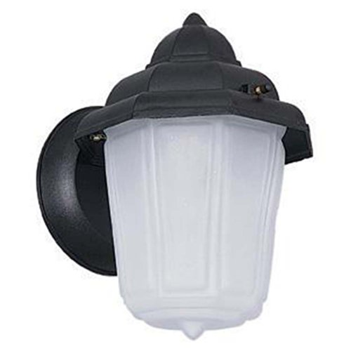 Sunset Lighting F7804-31 Outdoor Wall Sconce with Frosted Glass, Black Finish