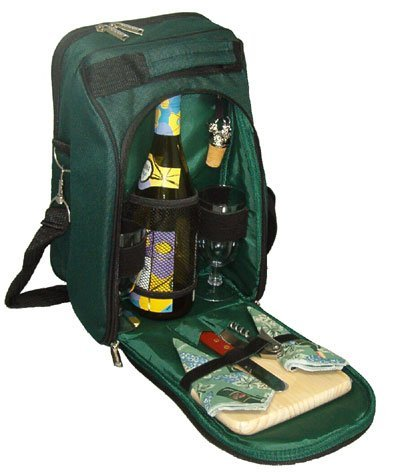 Picnic Gift 2005-GR Del Mar Two Person Wine and Cheese Tote - Green by Primeware Inc.