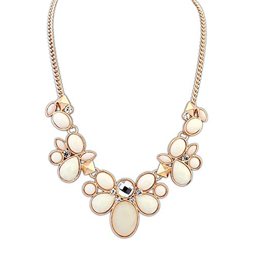 the-starry-night-beige-moving-drop-style-gold-color-square-alloy-sweat-flower-necklace-suitable-fema
