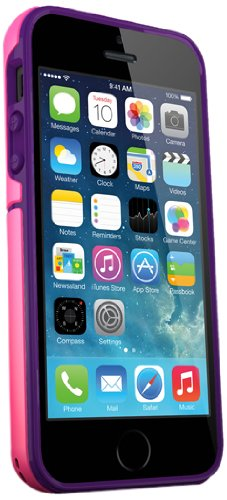 iSkin iSkin EXO5S5PKP Exo iPhone 5/5S Pink/Purple - Carrying Case - Retail Packaging - Black ()
