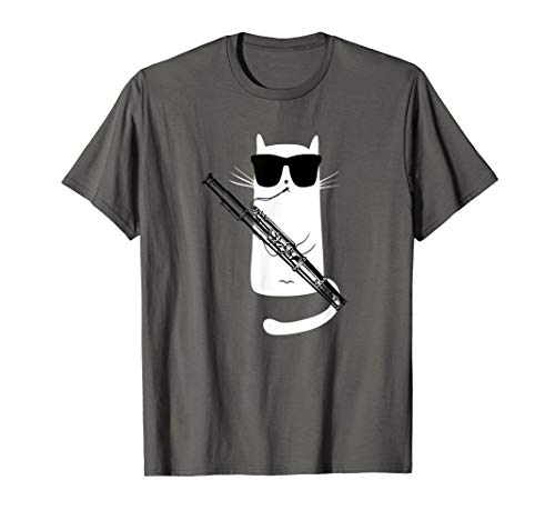 Funny Cat Wearing Sunglasses Playing Bassoon ()