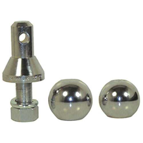Convert-A-Ball 901B Nickel-Plated Shank with 2 Balls - (Interchangeable Hitch Ball)